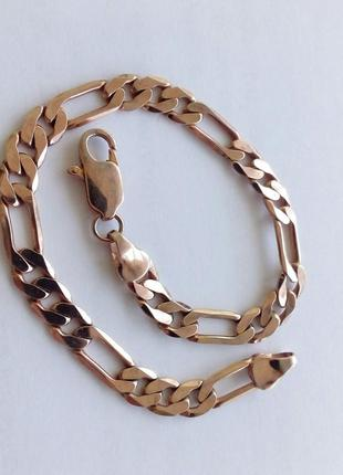 Стильный женский браслет на руку из медицинского золота. длина...