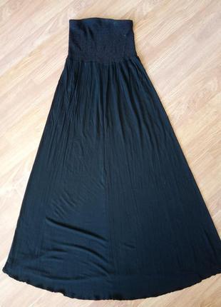 Брендовая, стильная юбка в пол на широкой резинке или платье. ...
