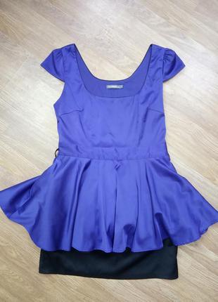 Вечернее, коктейльное платье. цвет королевский синий. размер е...