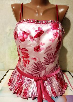 Стильный корсет-бюстье. цвет нежно- розовый. размер евро 38- 4...