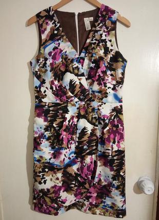 Стильное, яркое, милое, брендовое платье. размер укр. 48