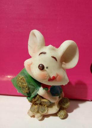 Керамическая статуэтка мышки
