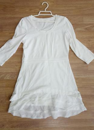 Брендовое, стильное, котоновое, трикотажное платье