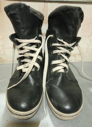 Стильные, удлиненные ботинки, полуботинки на шнурках.