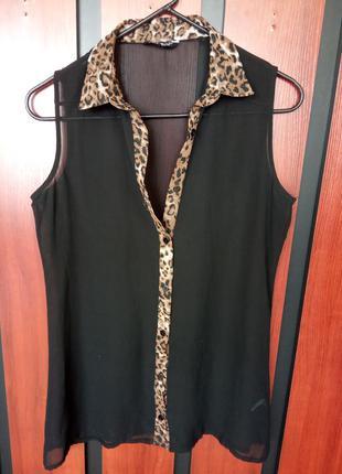 Стильная, шифоновая блуза-рубашка. бренд select.