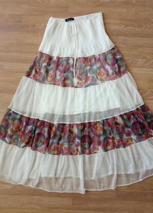 Шикарная, летняя, длинная юбка в пол, на широкой резинке.  раз...