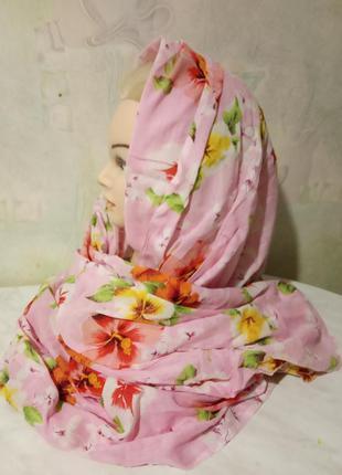 Стильные, длинные шарфы, палантины, парео разных цветов и разм...