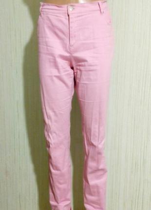 Брюки розового цвета, бренд bonprix,раз.евро 40