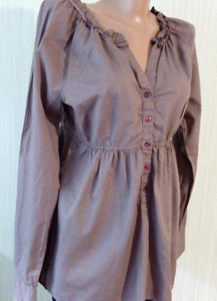 Стильная рубашка в мелкую клеточку, бренд bonprix. размер укр....