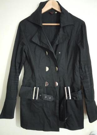 Стильный, удлиненный пиджак черного цвета. раз.укр.46-48