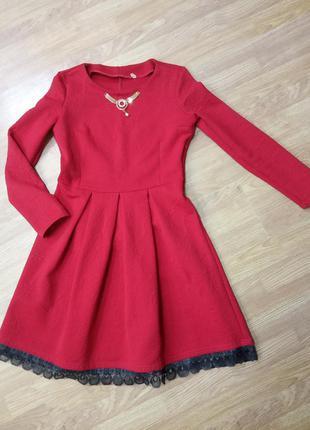 """Платье """"куколка"""". цвет красный. размер укр.48-50"""