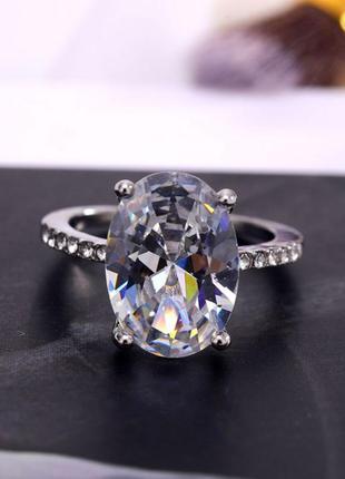 """Кольцо с большим камнем """"luxury"""""""
