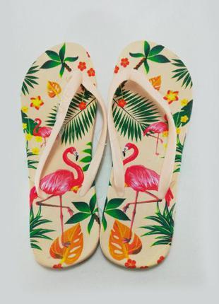 Женские вьетнамки flamingo, бежевые