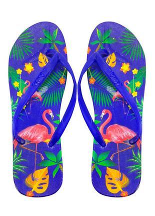 Женские вьетнамки flamingo, синие
