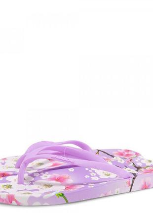 Женские вьетнамки sacura. фиолетовые.