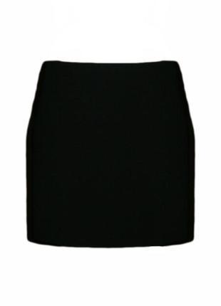 Короткая прямая классическая юбка на резинке, офис размер 14 н...
