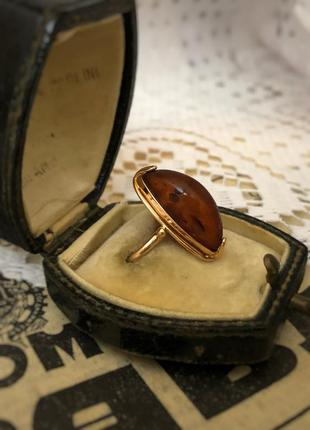 Кольцо перстень золото 583 винтажное калининградский балтийски...