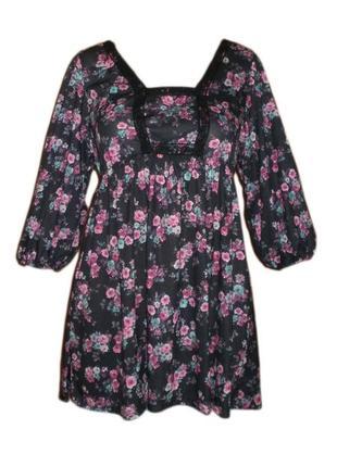 Блуза кофточка туника расклешенная можно для беременных размер...
