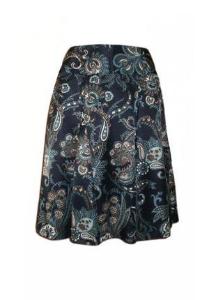Юбка расклешенная миди принт, юбка клеш ниже колена размер 14 ...
