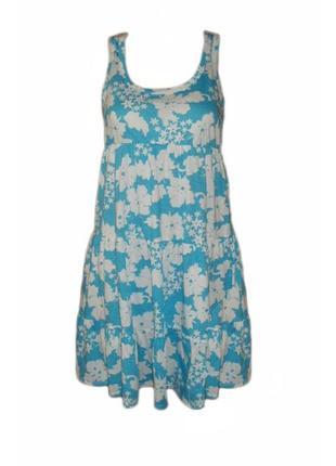 Летнее платье сарафан свободного кроя принт можно для беременн...