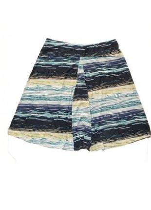 Расклешенная юбка миди, юбка на резинке ниже колена большой ра...