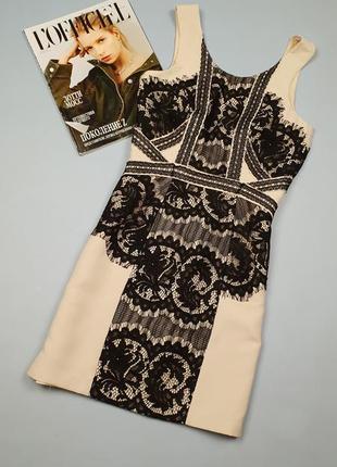 Платье с кружевом h&m p.36