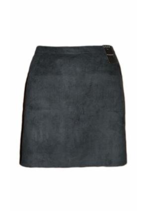Велюровая юбка трапеция под замш размер 16 наш 50