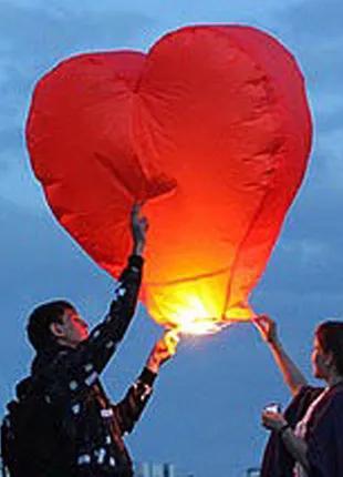 Небесные 3D фонарики - сердца на День Святого Валентина