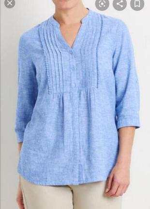 Рубашка лен коттон bonmarche