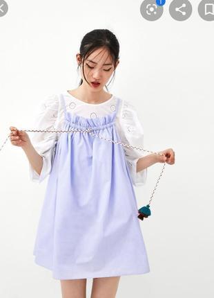 Платье комбез с кисточками и оборками zara