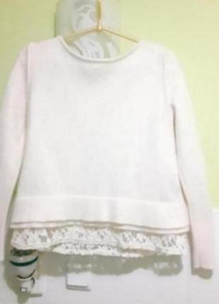 Шерстяной свитер с кружевом mint velvet