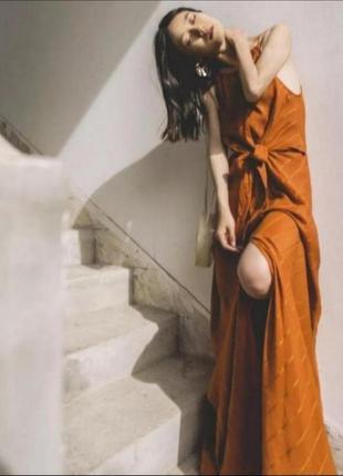 Длинное платье с узлом от h&m