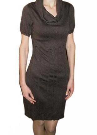 Демисезонное платье повседневное воротник хомут esprit размер s