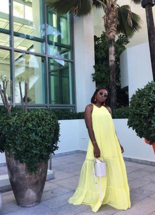 Шикарное макси платье шифоновое платье в пол от h&m