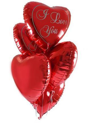 Фольгированные гелиевые сердца на День Святого Валентина
