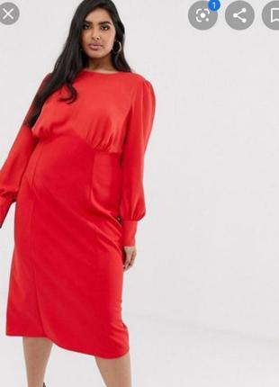 Новое миди платье plus size asos