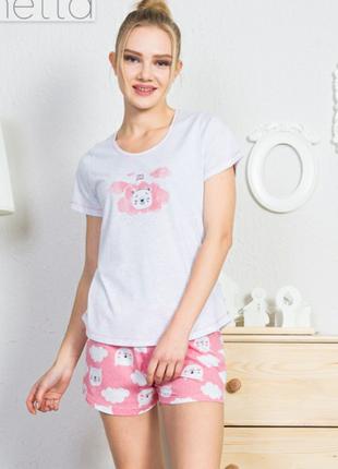 Пижама женская с шортами футболкой vienetta secret