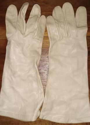 Женские кожаные демисезонные перчатки