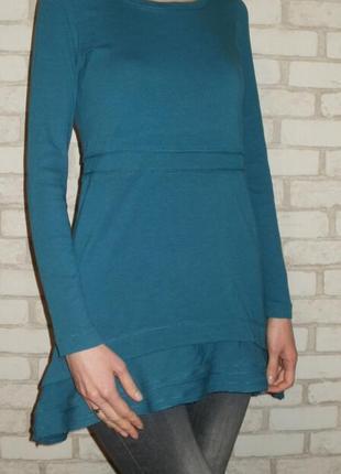 Платье туника с длинным рукавом хлопок