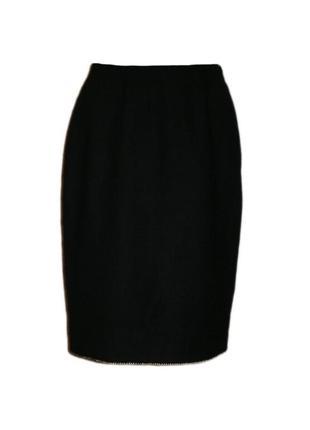 Прямая юбка ниже колена строгая классическая офис