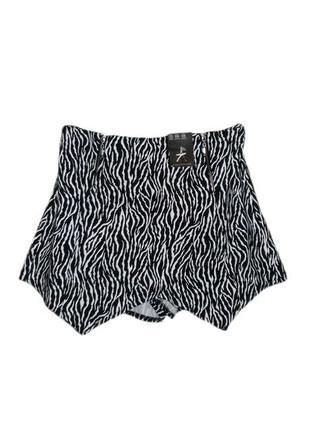 Новые юбка шорты принт зебра хищный анималистичный , размер 6 ...