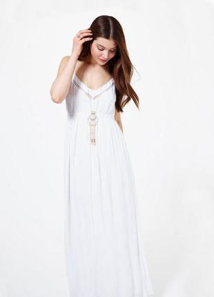 Белое длинное платье в пол miss selfridge