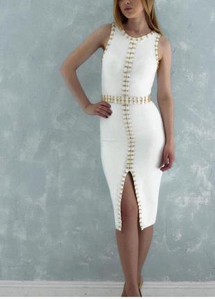 Шикарное сексуальное облегающее бандажное платье футляр herve ...