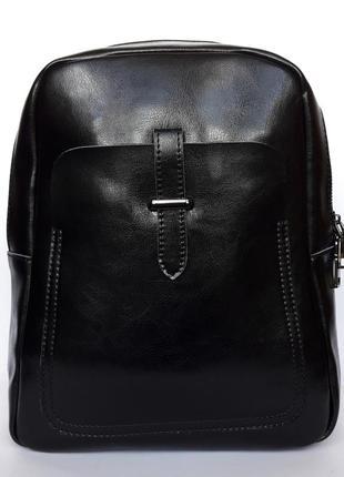 """Женский кожаный рюкзак """"empyreal"""" черный"""