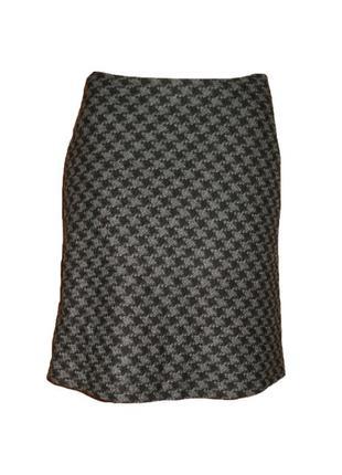 Полушерстяная юбка mexx, расклешенная  юбка принт ниже колена ...