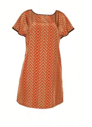 Платье геометрический принт,  платье свободного кроя