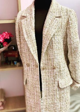 Стильный трендовый твидовый костюм твид  твидовый пиджак жакет...