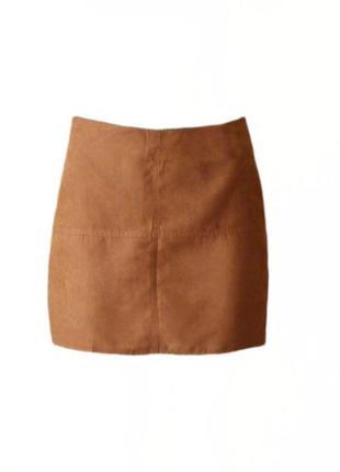 Короткая юбка трапеция под замш нубук atmosphere размер 12 наш 46