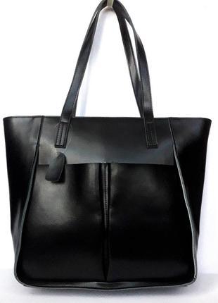 """Женская кожаная сумка """"impression"""" черная"""