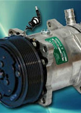 Компрессор кондиционера Case 7h15 119mm. PV8 82002069, 82008689